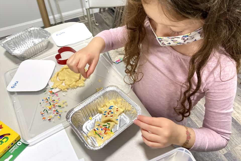 Kid making Snack