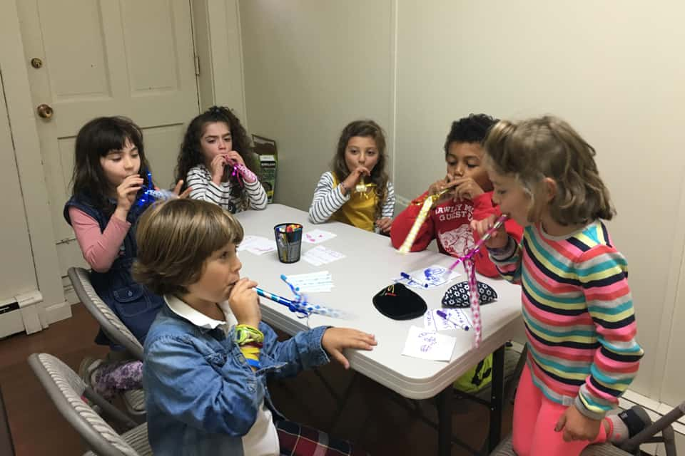 Kids Blowing