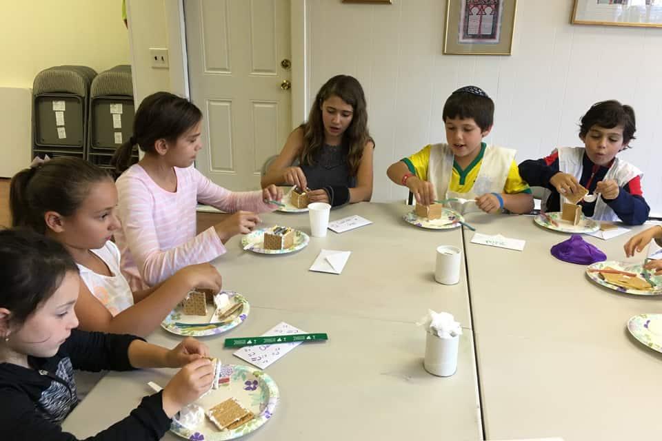 Kids Making a Creative Snacks