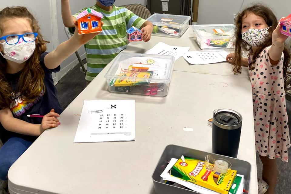 Kids Making mini House